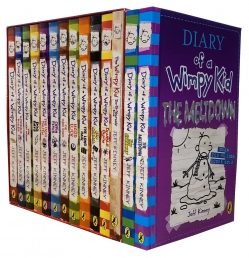 Diary of a Wimpy Kid Collection 14 Books Set Meltdown, Getaway, Double Down, Old School Photo