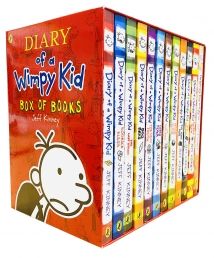 Diary of a Wimpy Kid Collection 12 Books Set by Jeff Kinney Photo