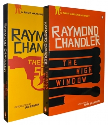 Raymond Chandler Collection Phillip Marlowe Series 2 Books Set Big Sleep Window Photo