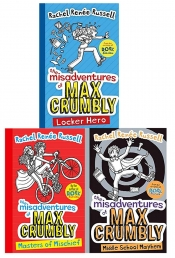 Rachel Renee Russell The Misadventures of Max Crumbly 3 Books Photo