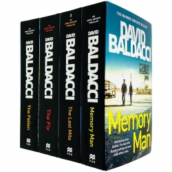 David Baldacci Amos Decker Series 4 Books Collection Set - Memory Man, The Last Mile, The Fix, The Fallen Photo