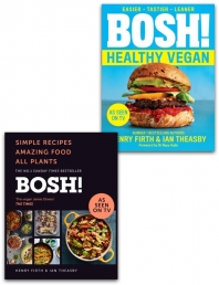 Bosh Healthy Vegan, [Hardcover] Bosh Simple recipes 2 Books Collection Set By Henry Firth, Ian Theasby Photo