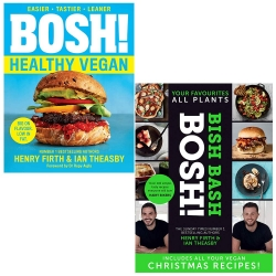 Bosh Healthy Vegan, [Hardcover] Bish Bash Bosh 2 Books Collection Set By Henry Firth, Ian Theasby Photo