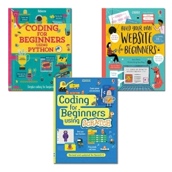 Usborne Coding For Beginners 3 Books Collection Set - Using Sratch, Using Python, Build your own website by Usborne