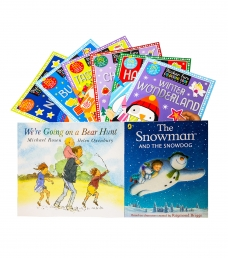 Children Sticker Fun Activity Collection 8 Books Set with We are Going on a Bear Hunt & The Snowman and The Snowdog Photo
