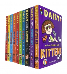 Daisy and The Trouble Collection 10 Books Set by Kes Gray Daisy and The Trouble with Kittens, Sports Day, Vampires, Zoos, Giants, Piggy Banks Photo