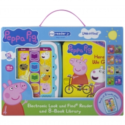 Peppa Pig Electronic Me Reader Jr and 8 Look and Find Sound Book Library Photo