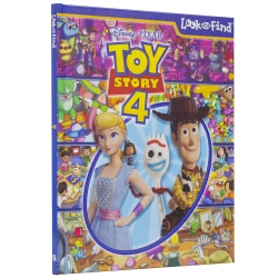 Disney Pixar Toy Story 4 Woody, Buzz Lightyear, Bo Peep, and More! Look and Find Activity Book Photo