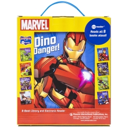 Marvel Super Heroes Spiderman, Avengers, Guardians, and More! Me Reader Electronic Reader with 8 Book Library Photo