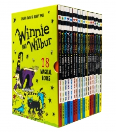 Winnie and Wilbur 18 Magical Fiction Books Children Collection Gift Box Set by Laura Owen and Korky Paul