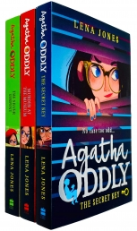 Agatha Oddly Series 3 Books Collection Set by Lena Jones (The Secret Key, Murder at the Museum & The Silver Serpent) Photo