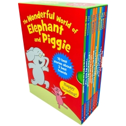 The Wonderful World of Elephant and Piggie Series 10 Books Collection Box Set by Mo Willems Photo