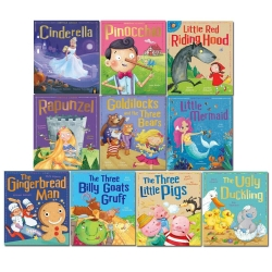 My First Fairy Tales Children Classic Collection 10 Books Set Three Little Pigs, Goldilocks and the Three Bears, Little Red Riding Hood Photo