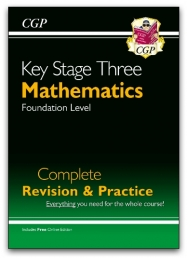 KS3 Maths Complete Revision & Practice - Foundation (with Online Edition) Photo