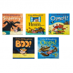 Colin McNaughton Collection 5 Books Set - Oomph!, Suddenly!, Hmm, Boo!, Oops! Photo