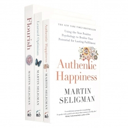 Martin Seligman 3 Books Collection Set - Flourish, Authentic Happiness, Learned Optimism Photo