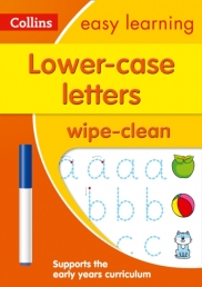 Collins Easy Learning Preschool Lower Case Letters Age 3-5 Wipe Clean Activity Book Photo