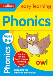 Collins Easy Learning KS1 - Phonics Ages 5-6 : KS1 English Home Learning Photo