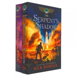 The Kane Chronicles Collection 2 Books Set by Rick Riordan The Serpents Shadow, The Throne of Fire Photo