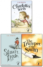 E B White Collection 3 Books Set Charlotte Web, Stuart Little, The Trumpet of the Swan Photo