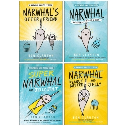 Narwhal and Jelly Series 4 Books Collection Set By Ben Clanton (Narwhals Otter Friend, Narwhal Unicorn of the Sea, Super Narwhal) Photo