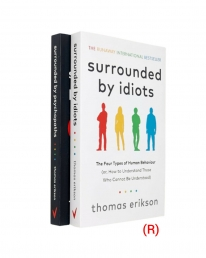 Surrounded by Psychopaths & Surrounded by Idiots By Thomas Erikson 2 Books Collection Set Photo