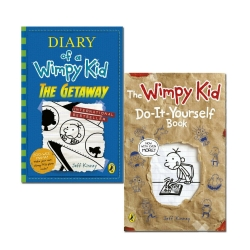 Diary of a Wimpy Kid The Getaway & Do-It-Yourself Book By Jeff Kinney 2 Books Collection Set by Jeff Kinney
