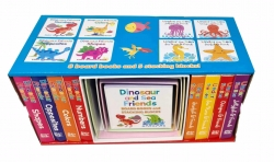 Dinosaur and Sea Friends Early Learning 8 Board Books and 5 Stacking Blocks by Various