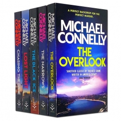 Michael Connelly 5 Books Set Collection Set - The Black Ice, The Narrows, The Overlook, Chasing the Dime, Lost Light Photo
