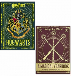 Harry Potter Hogwarts A Cinematic Yearbook and Wizarding World a Magical Yearbook 2 Books Collection Set Photo