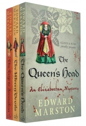 Edward Marston Nicholas Bracewell Series Collection 3 Books Set (The Queens Head, The Merry Devils, The Trip to Jerusalem) Photo