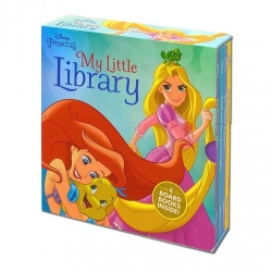 Disney Princess My Little Library 4 Board Book Collection Set (Star Stories, The Nose Knows, Ariel and the Ghost Lights, Bedtime for Max) Photo