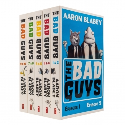 The Bad Guys 5 Books Collection Set (Episode 1 to 10) by Aaron Blabey Photo