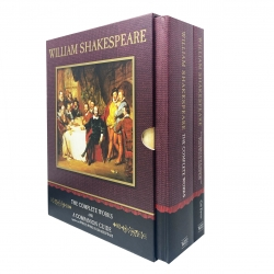 William Shakespeare 2 Volume Box Set The Complete Works and a Companion Guide Photo