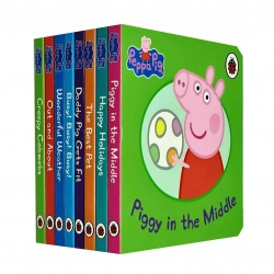 Peppa Pig Childrens Picture Flat 8 Board Books Collection Set Photo