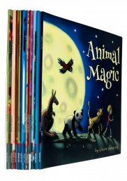 Children Picture Storybooks 10 Books Collection Set Animal Magic, Day at the Zoo, Little Llama, Jumblies, Milo Goes Bananas, Three Little Pigs & MORE Photo