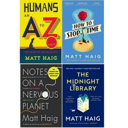 Matt Haig Collection 4 Book Set (The Midnight Library, Notes On Nervous Planet, Humans An A-Z, How To Stop Time) Photo