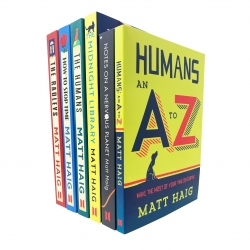 Matt Haig Collection 6 Books Set (The Midnight Library, Notes On Nervous Planet, Humans An A-Z, How To Stop Time, The Humans, The Radleys) Photo