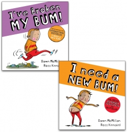 The New Bum Series 2 Book Collection (I Need a New Bum, I've Broken My Bum) by Dawn McMillan Photo