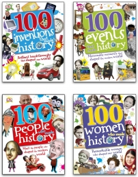 100 History Series 4 Books Collection Set (100 People Who Made History, 100 Events, 100 Inventions, 100 Women) Photo