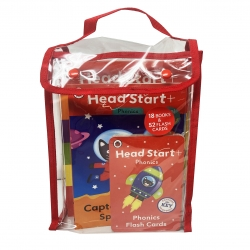 Early Learning Ladybird Head Start 18 Books & 52 Flashcards Collection Set Photo