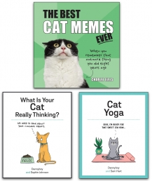 The Best Cat Memes Ever, Cat Yoga, What is Your Cat Really Thinking 3 Books Collection Set Photo