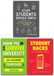 How To Survive University, Stuffs Students Should Know, Student Hacks 3 Books Collection Set Photo