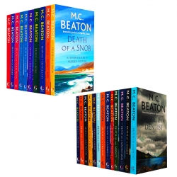 M C Beaton Hamish Macbeth Series 23 Books Collection Set Death of a Dentist Death of a Ghost Death of a Macho Man Photo