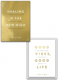 Healing Is the New High & Good Vibes, Good Life 2 Book Collection Set by Vex King Photo