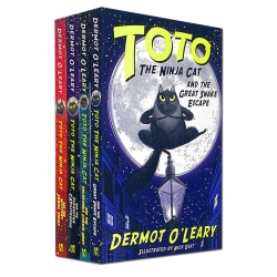 Toto the Ninja Cat Series 4 Books Collection Set By Dermot O Leary Photo