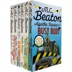 Agatha Raisin Series Collection 6 Books Set by M C Beaton (Busy Body, Perfect Paragon, Quiche of Death, Dead Ringer, Blood of an Englishman and More) Photo