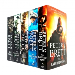 The Demon Cycle Series 5 Books Collection Set By Peter V Brett Photo