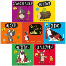 Kes Gray Oi Frog and Friends Collection 7 Books Set (Oi Duck-billed Platypus, Oi Frog, Oi Cat, Quick Quack Quentin, Oi Dog, Oi Puppies and More) Photo