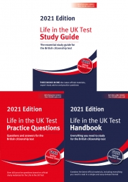 Life In The UK 2021 The British Citizenship Test 3 Books Collection Set - Practice Questions, Study Guide, Handbook Photo